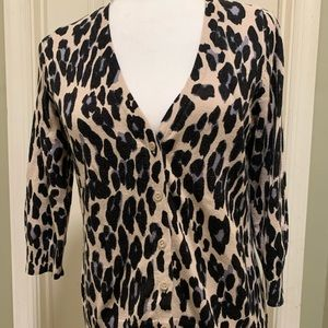 AB studio Cheetah print cardigan